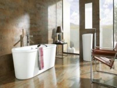 Читать: Ванная комната с терракотовыми полами с деревянными потолками
